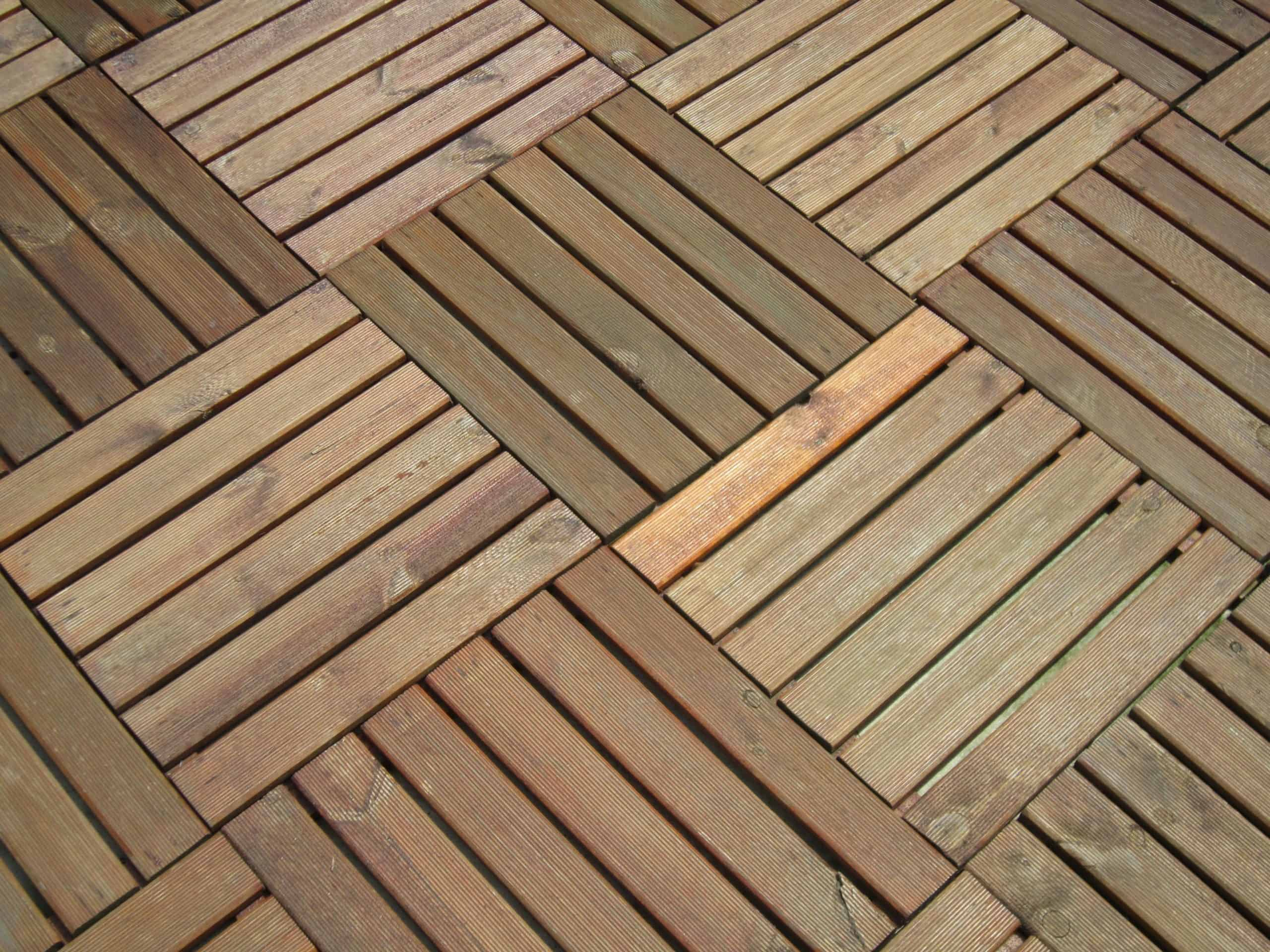 surface to use under hot tub, wooden tiles