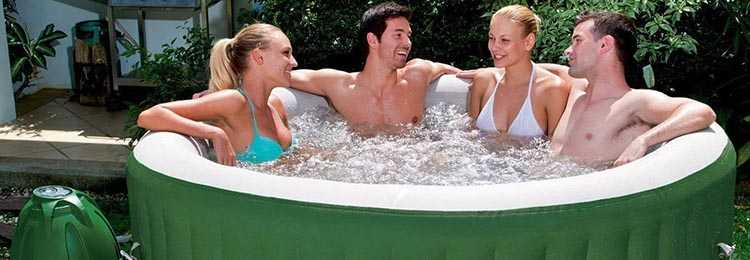 people in a coleman lay z spa