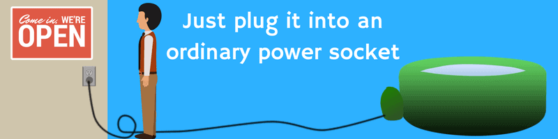 Just plug it into an ordinary power socket