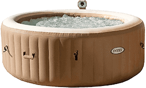 Intex Pure Spa Inflatable Hot Tub filled with water