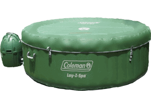coleman hot tub with cover