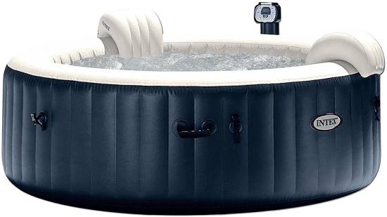 intex purespa black 6 person spa